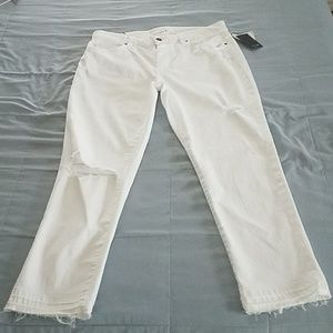 NWTS JOES RIPPED/TORN WHITE JEANS. SIZE 31
